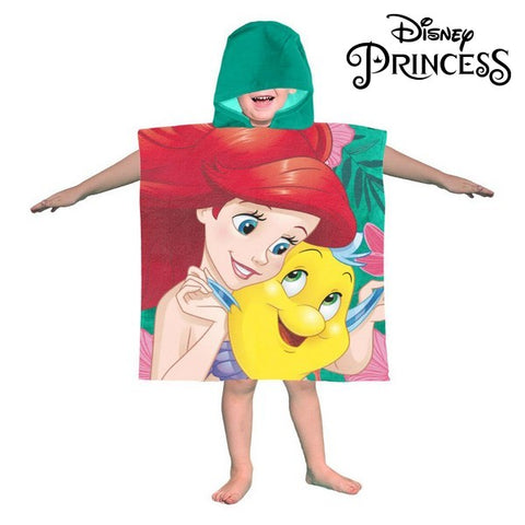 Poncho-Towel with Hood Little Mermaid Princesses Disney 74218