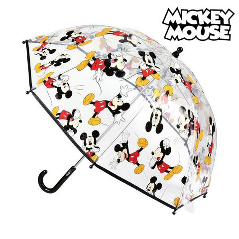 Bubble Umbrella Mickey Mouse Transparent (ø 45 cm)