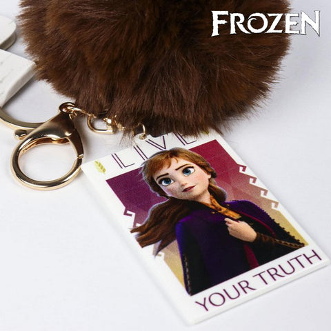 Cuddly Toy Keyring Anna Frozen 74024 Purple