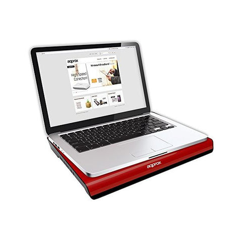 "approx APPNBC06R Cooler for laptop 15.4"" Red"