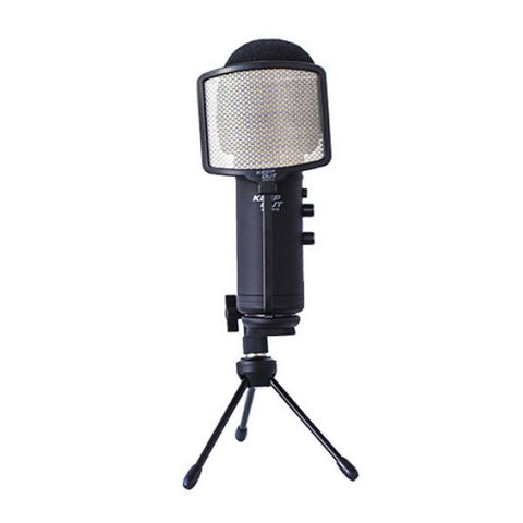 Table-top Microphone KEEP OUT XMICPRO USB Streaming LED Black
