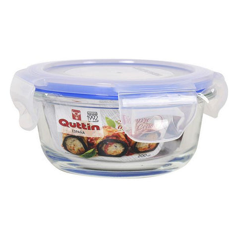 Lunch box Quttin Glass Circular (200 Cc)