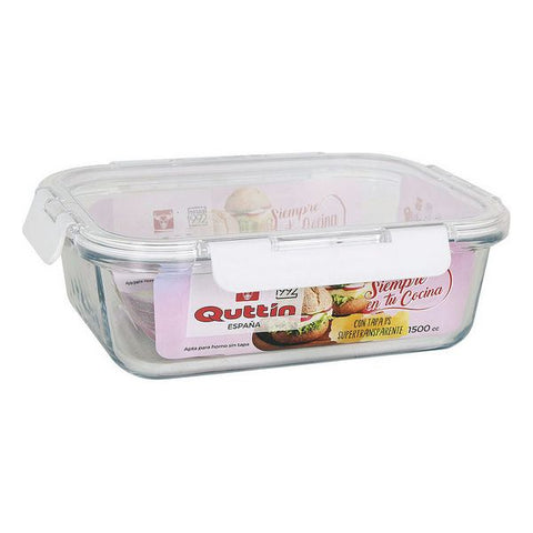 Hermetic Lunch Box Quttin 1500 cc Rectangular (23,4 x 17,8 cm)