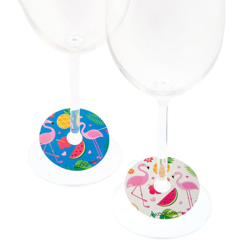 Wineglass Identifier Koala Flamingo (6 pcs) Plastic
