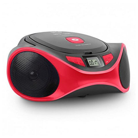 Radio-CD MP3 SPC 4501R CLAM BOOMBOX USB Rouge