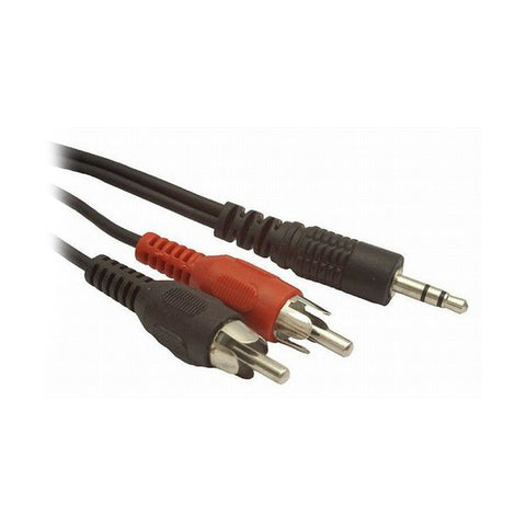 Audio Jack to 2 RCA Cable GEMBIRD CCA-458 Black (1,5 m)