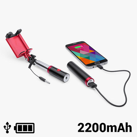 Selfie Stick with Power Bank 2200 mAh 145200
