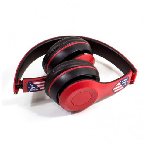 Casque Écouteur Pliable Atlético Madrid Bluetooth Rouge