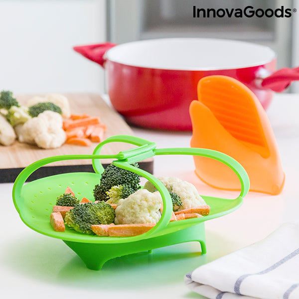 InnovaGoods Silicone Steamer with Mitt