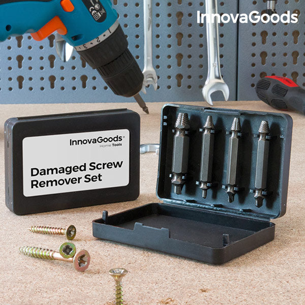 InnovaGoods Damaged Screw Remover Set (Pack of 4)