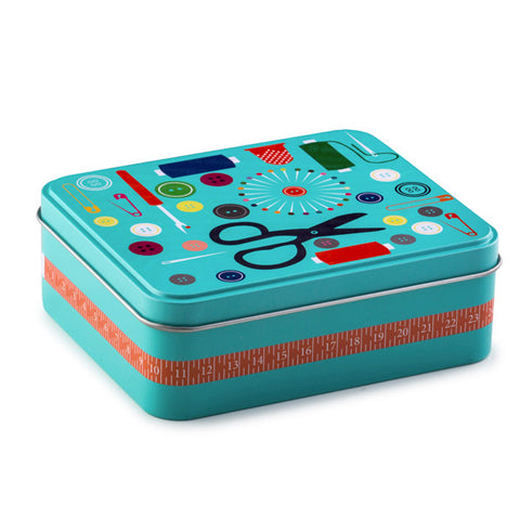 Metal Sewing Box with Sewing Accessories