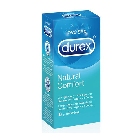 Durex Natural Plus Condoms (6 Units)