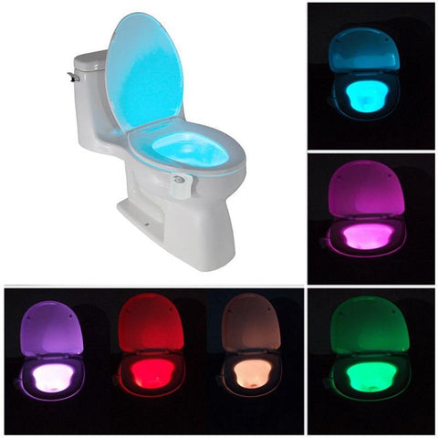 B01LZMBJFA-AMZN LED Night Lights La veilleuse automatique pour WC-8 Couleurs