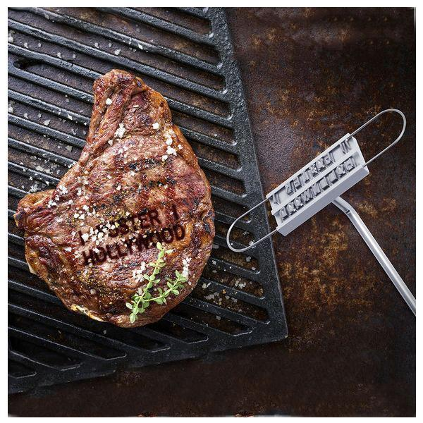 BigBuy Cooking Marron Metallic Marker for Meat 145690