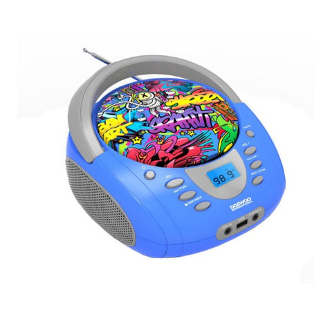 Portable Bluetooth Radio Daewoo DBU-10 Graffiti FM Blue