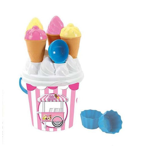 Beach Bucket Ice Cream Plastic
