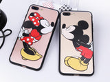 Point d'achat coque phone mobile Coque Silicone Dessin Animé Mickey et Minnie Pour Iphone