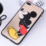 Point d'achat coque phone mobile Mickey / For iphone 6 6s Coque Silicone Dessin Animé Mickey et Minnie Pour Iphone