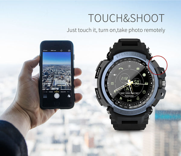 Montre Connectée Sport Professional 5ATM  IOS & Android Option Touch-Shoot