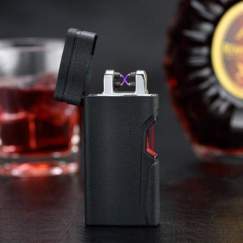 world lighter top1 top1 Store Cigarette Accessoires Noir Rechargeable Briquet Creative Plasma USB