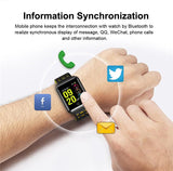 YiSailing Factory Store Montres intelligentes Montre Connectée Willful Bluetooth 4.2 Étanche Iphone et Android