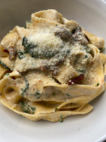 Creamed Spinach Pappardelle