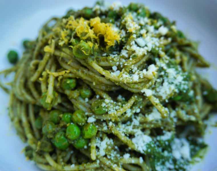 Minted Pea Pesto Brown Rice Pasta