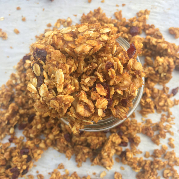 Pumpkin and Dried Cranberry Granola