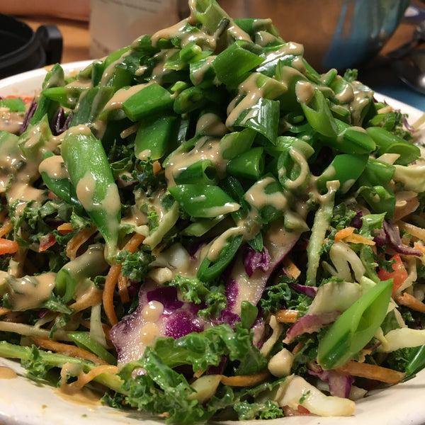 Thai Slaw with Peanut Butter Dressing