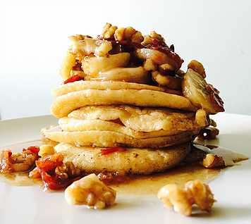 Tastic Sweet Banana Bacon Walnut Pancakes