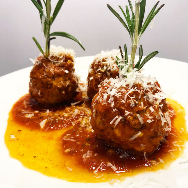 Spanish Meatballs with Tomato-Saffron Sauce
