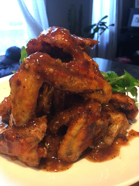 Crispy Baked Sweet Jerk Wings & Flats