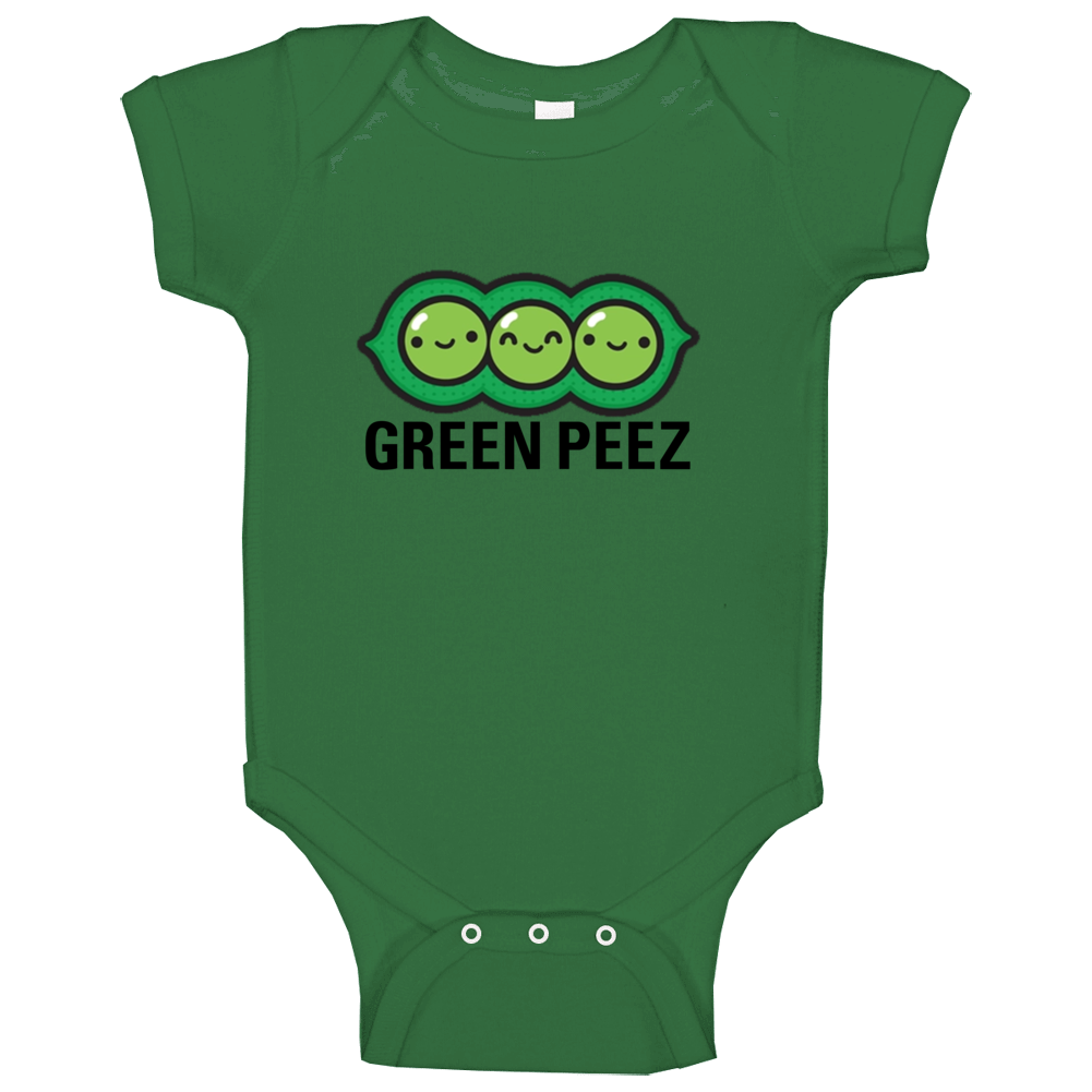 Green Peez Baby One Piece