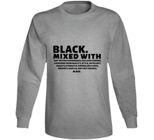 Black Mixed With Long Sleeve T Shirt