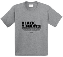 Black Mixed With T Shirt