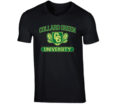 Collard Green University V-neck T Shirt
