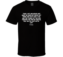 Take A Hit and Never Quit Tedashii Quote T Shirt