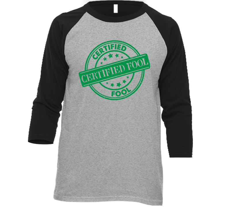 Certified Food Baseball Grey T Shirt