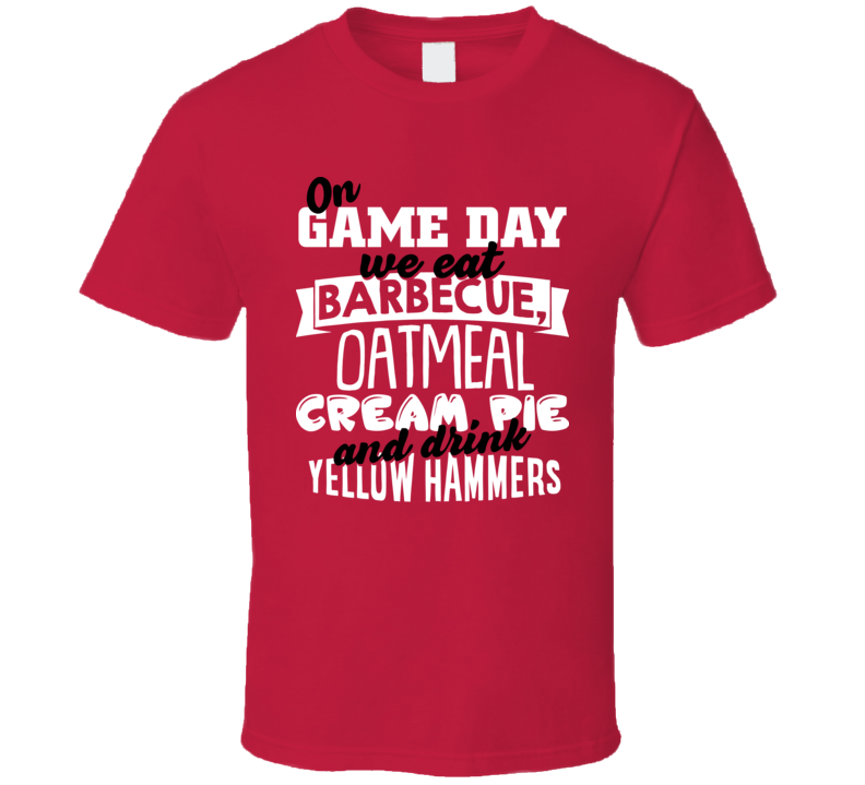 Barbecue Oatmeal Cream Pie Yellow Hammers Alabama Football Classic T Shirt