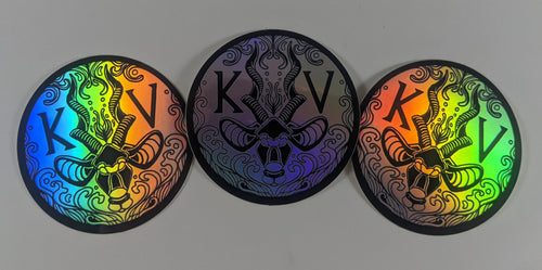 New KuduVoodoo Logo Sticker-Holo (Single and 3 Pack Listing)