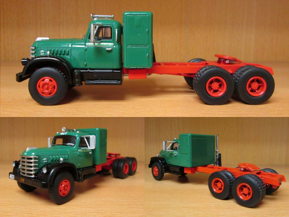 1/64 NEO Diamond T 921, green / black, with bunk, 1955