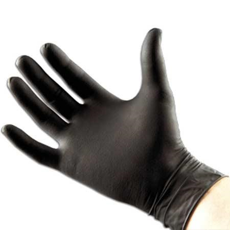 Black Nitrile Gloves Medium