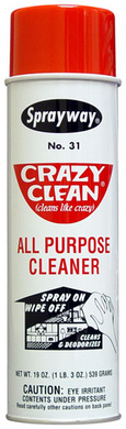 Crazy Clean All Purpose Cleaner - 19 oz Aerosol Can - CASE of 12