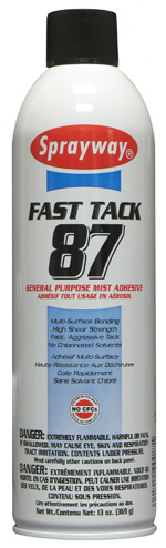 Fast Tack 87 General Purpose Mist Adhesive - 13 oz Aerosol Can