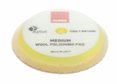 RUPES Yellow Medium Wool Polishing Pad  130-145 mm (5-5.7 inch)