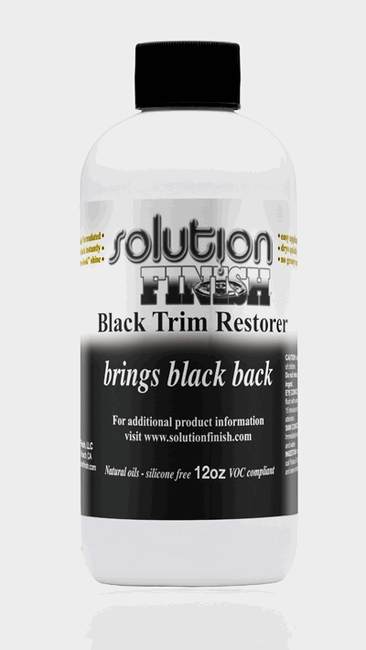 Solution Finish Black Plastic and Vinyl Restorer   12oz