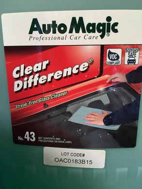 AutoMagic Clear Difference Glass Cleaner 5 Gal