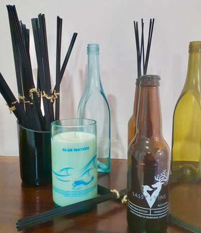 Blue Waters Reclaimed Beer Bottles Diffusers & Double Reed Set
