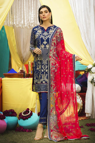 Eshaal Embroidered Luxury Chiffon Collection-EA-610