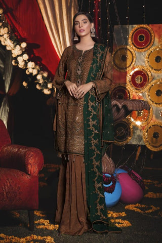 Eshaal Embroidered Luxury Chiffon Collection-EA-605